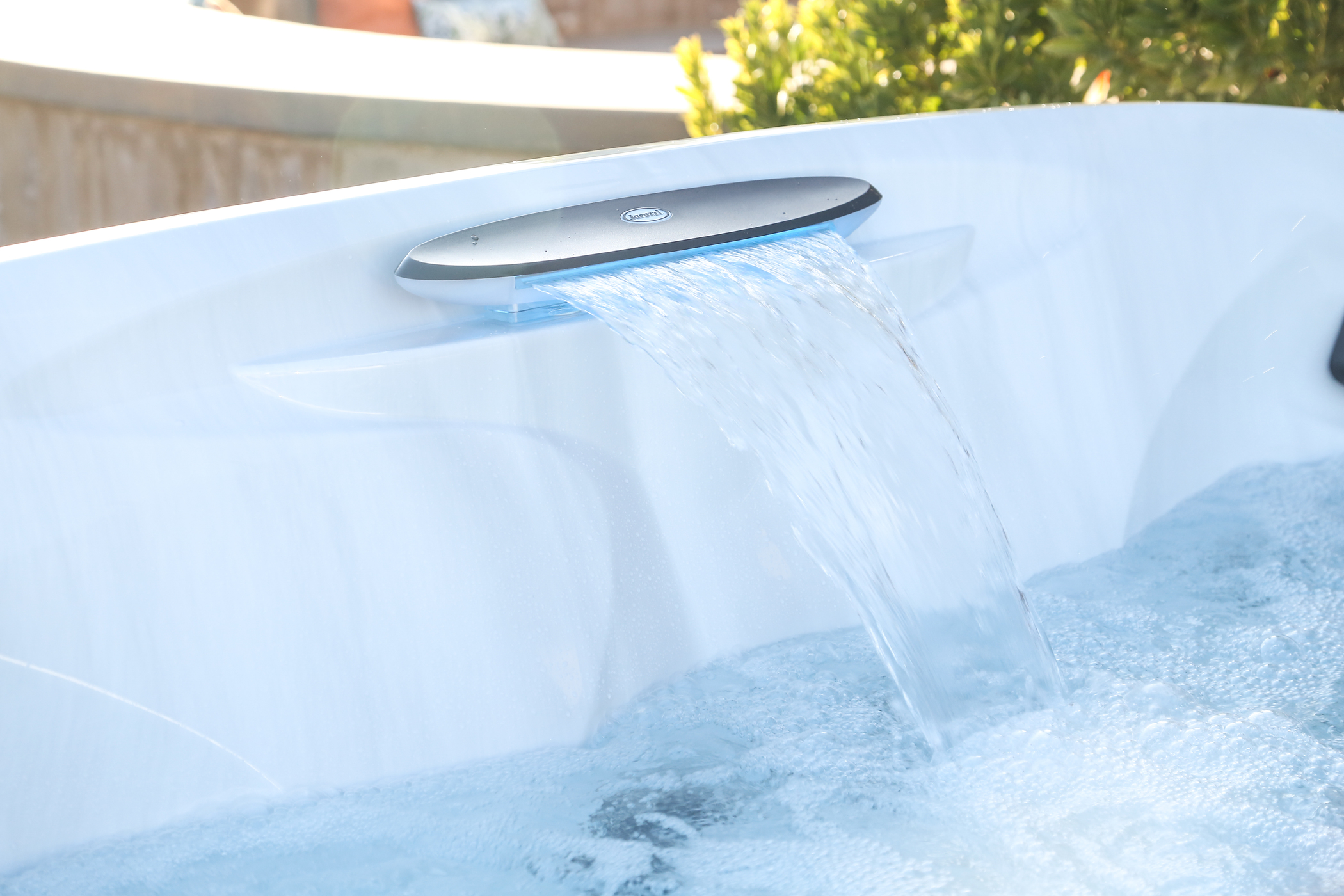 Jacuzzi hot tub waterfall