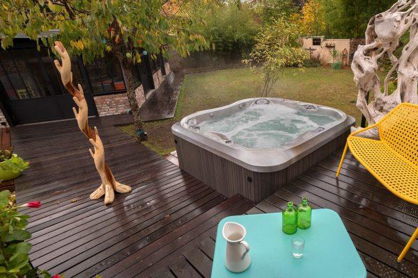 jacuzzi hot tub in San Antonio backyard