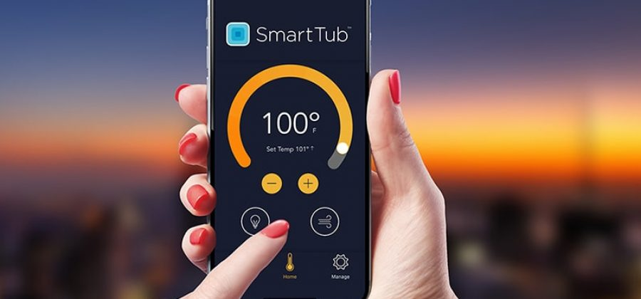 Smart Tub App on Mobile Phone